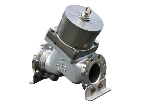 Angle sheet-type large 2-way valves